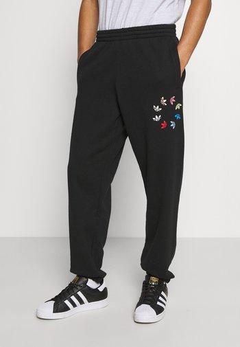 PANT - Pantaloni sportivi - black/multicolor