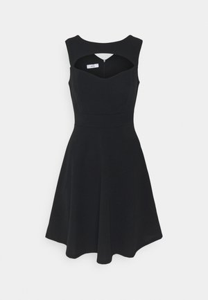 SHANICE CUT OUT NECK SKATER DRESS - Juhlamekko - black