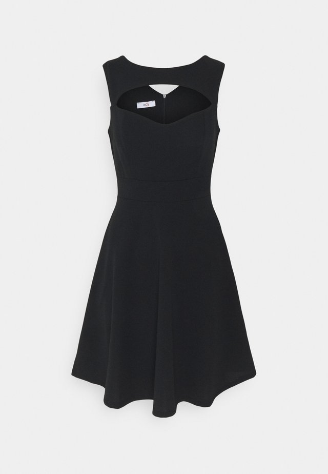 SHANICE CUT OUT NECK SKATER DRESS - Cocktail dress / Party dress - black