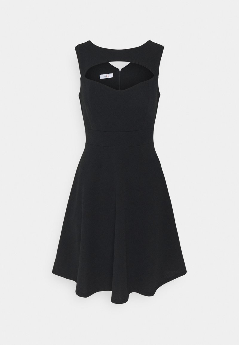 WAL G. - SHANICE CUT OUT NECK SKATER DRESS - Cocktail dress / Party dress - black