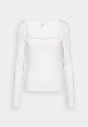 SQUARE DETAIL - Topper langermet - white