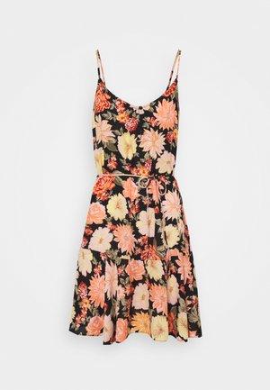 PCNYA SLIP BUTTON DRESS - Vestido informal - black