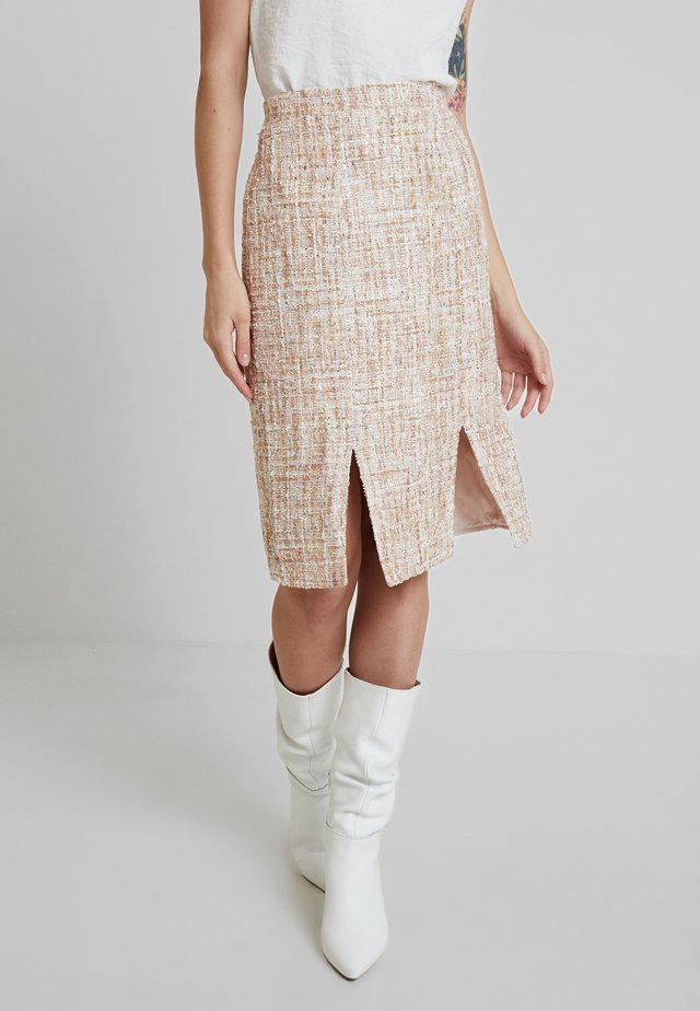 QUINCY SKIRT - Pencil skirt - blush/multi