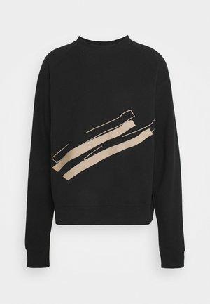 LINE  CREW NECK - Sweatshirts - black
