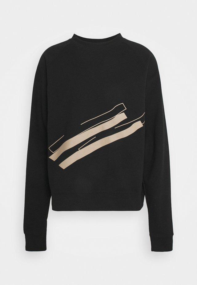 LINE  CREW NECK - Sweatshirt - black