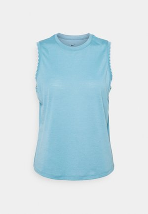 CROCHET TANK - T-shirt sportiva - cerulean/sail/armory blue