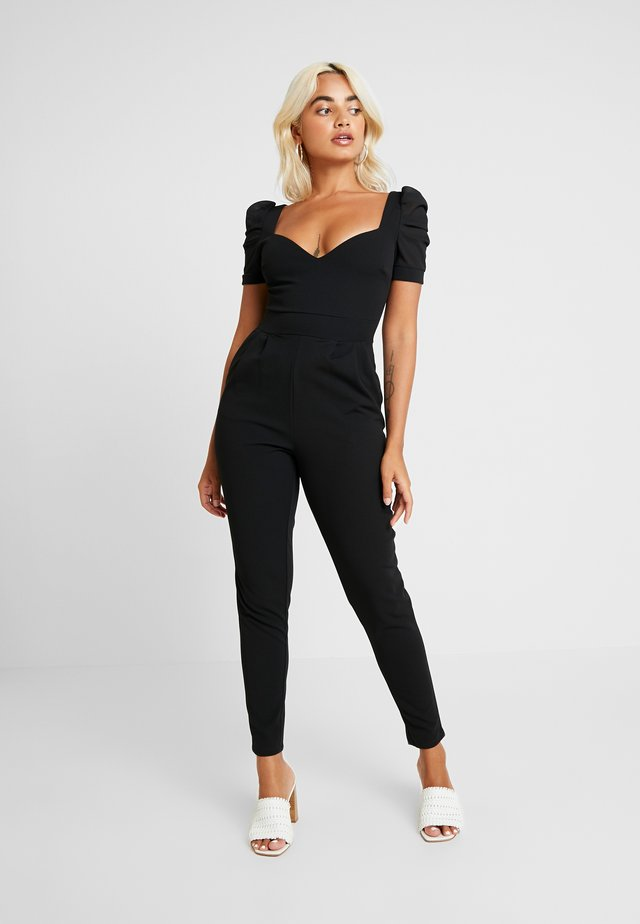 SWEETHEART NECKLINE - Jumpsuit - black