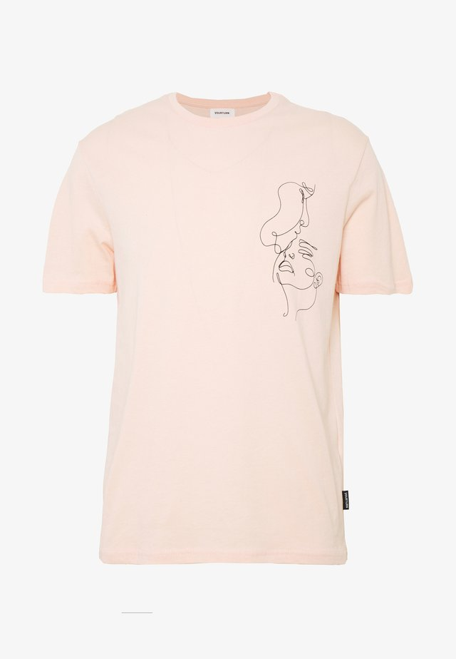 Triko spotiskem - pink