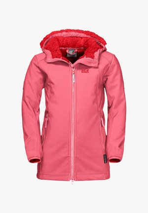 KISSEKATT - Soft shell jacket - coral pink