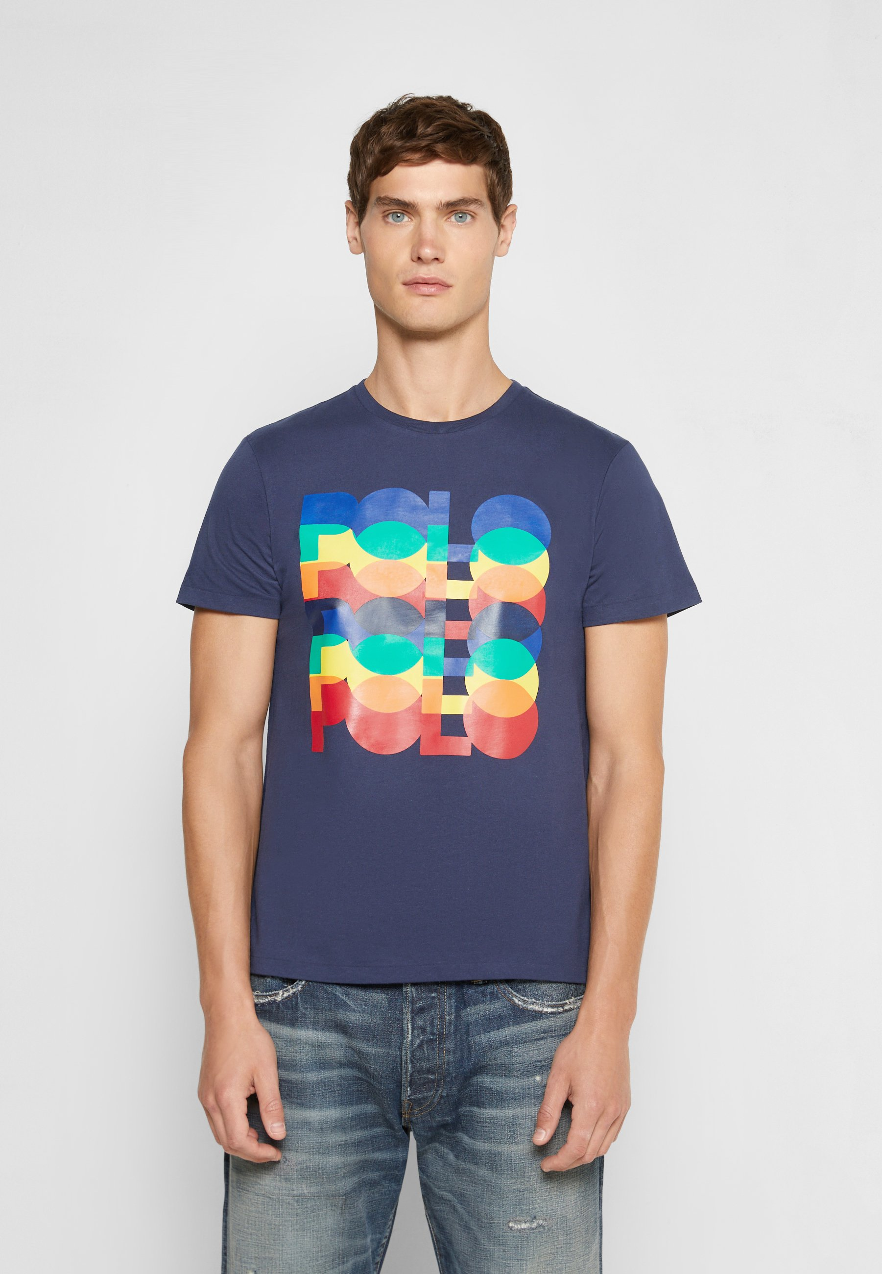Herren CUSTOM SLIM FIT LOGO JERSEY T-SHIRT - T-Shirt print
