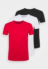 Calvin Klein Jeans - SLIM TEE 3 PACK - T-paita - red/black/white - 7