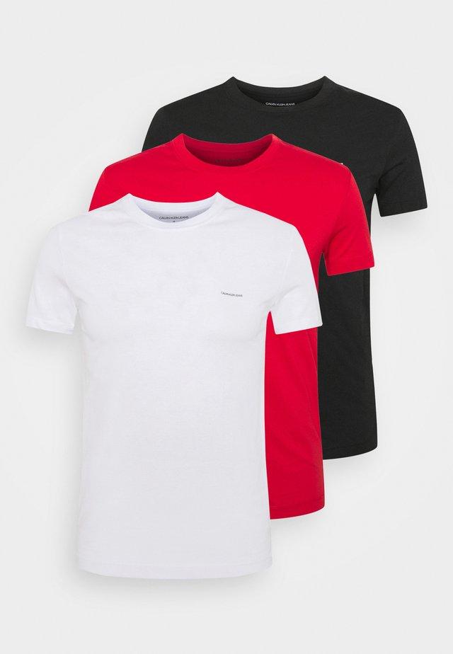 SLIM TEE 3 PACK - Jednoduché triko - red/black/white