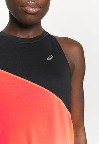 ASICS - TOKYO TANK - Sports shirt - performance black/flash coral - 6