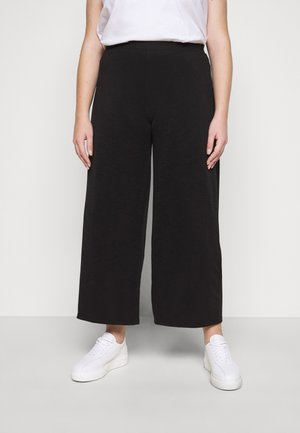 CARLAILI WIDE PANTS  - Trousers - black
