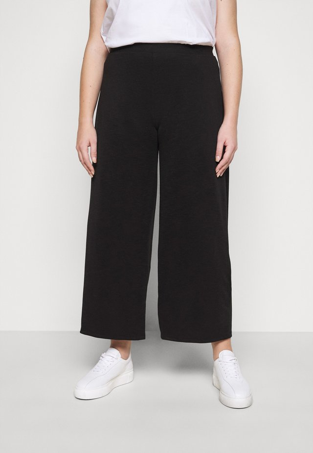 CARLAILI WIDE PANTS  - Bukse - black