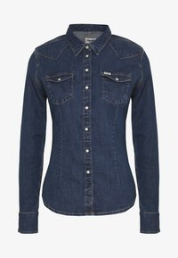 Wrangler - SLIM WESTERN SHIRT - Overhemdblouse - mid indigo - 4