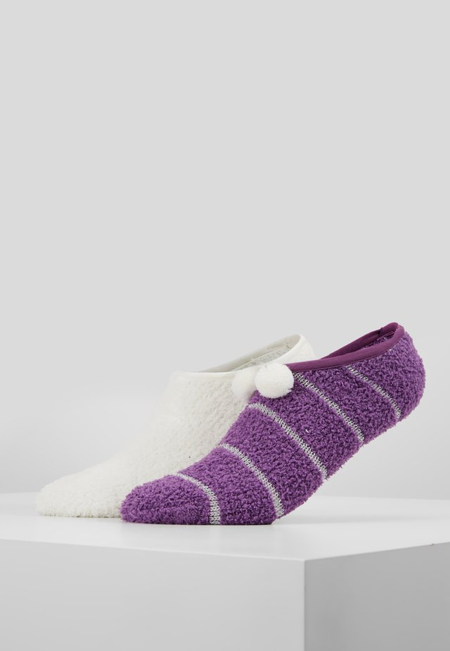 2 PACK - Calze - off-white/purple