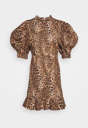 PUFF MINI DRESS - Day dress - brown