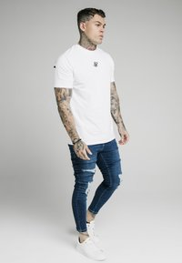 SIKSILK - DISTRESSED  WITH ZIP DETAIL - Skinny džíny - light blue - 1