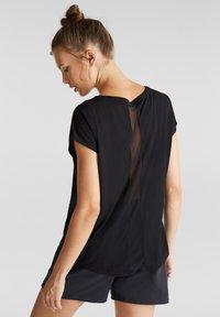 Esprit Sports - MIT NETZ-EINSATZ - Print T-shirt - black - 2