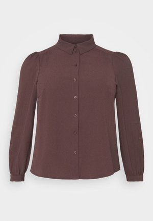 VMAYA - Button-down blouse - chocolate plum