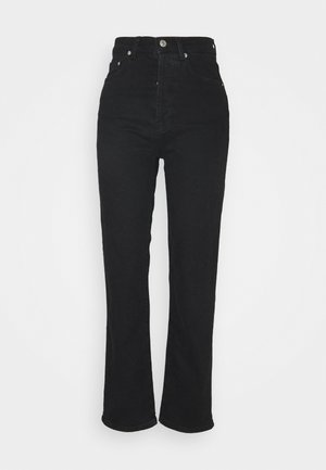 HIGH WAIST - Straight leg jeans - black