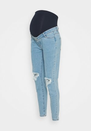MATERNITY RIOT RIPPED COMFORT STRETCH - Slim fit jeans - blue