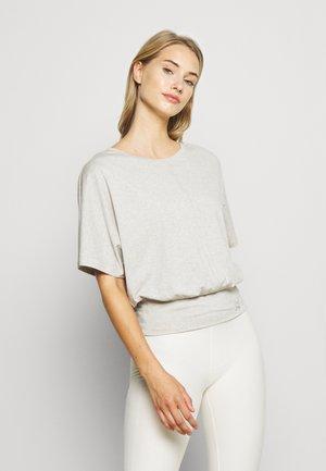 EXHALE TEE - T-shirt basic - light gray heather