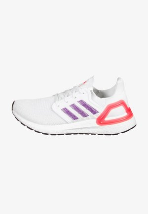 ULTRABOOST - Neutral running shoes - footwear white / glow purple / echo pink