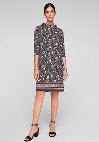 s.Oliver BLACK LABEL - Day dress - black floral aop - 1