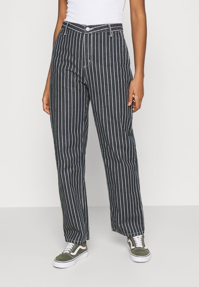 TRADE PANT - Jeans relaxed fit - dark navy/wax
