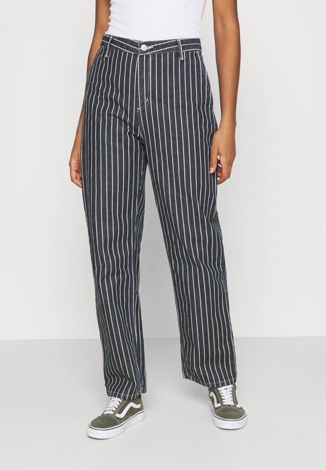 TRADE PANT - Jeans baggy - dark navy/wax