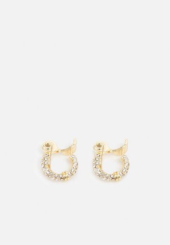PAVE HOOP - Earrings - gold-coloured/cry