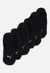 Puma - FOOTIE 6 PACK UNISEX - Trainer socks - black - 0