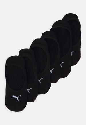 FOOTIE 6 PACK UNISEX - Calcetines tobilleros - black