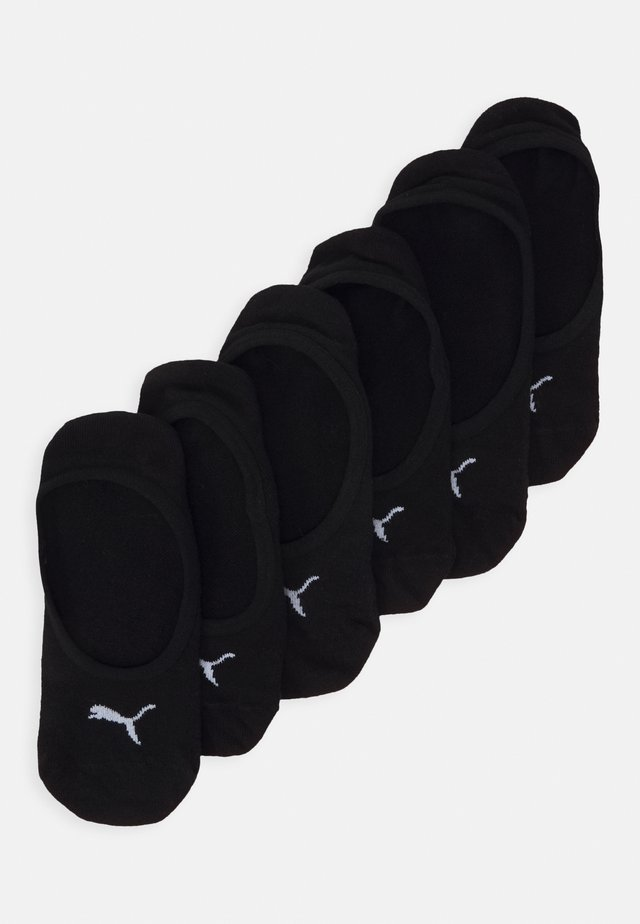 FOOTIE 6 PACK UNISEX - Calcetines tobilleros - black