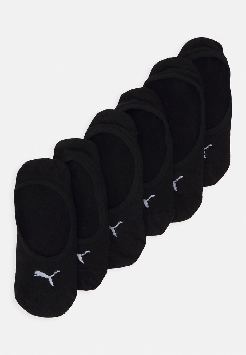 Puma - FOOTIE 6 PACK UNISEX - Trainer socks - black