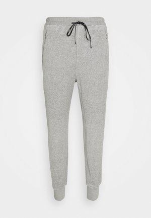 DROPPED RISE TAPERED  - Tracksuit bottoms - grey melange