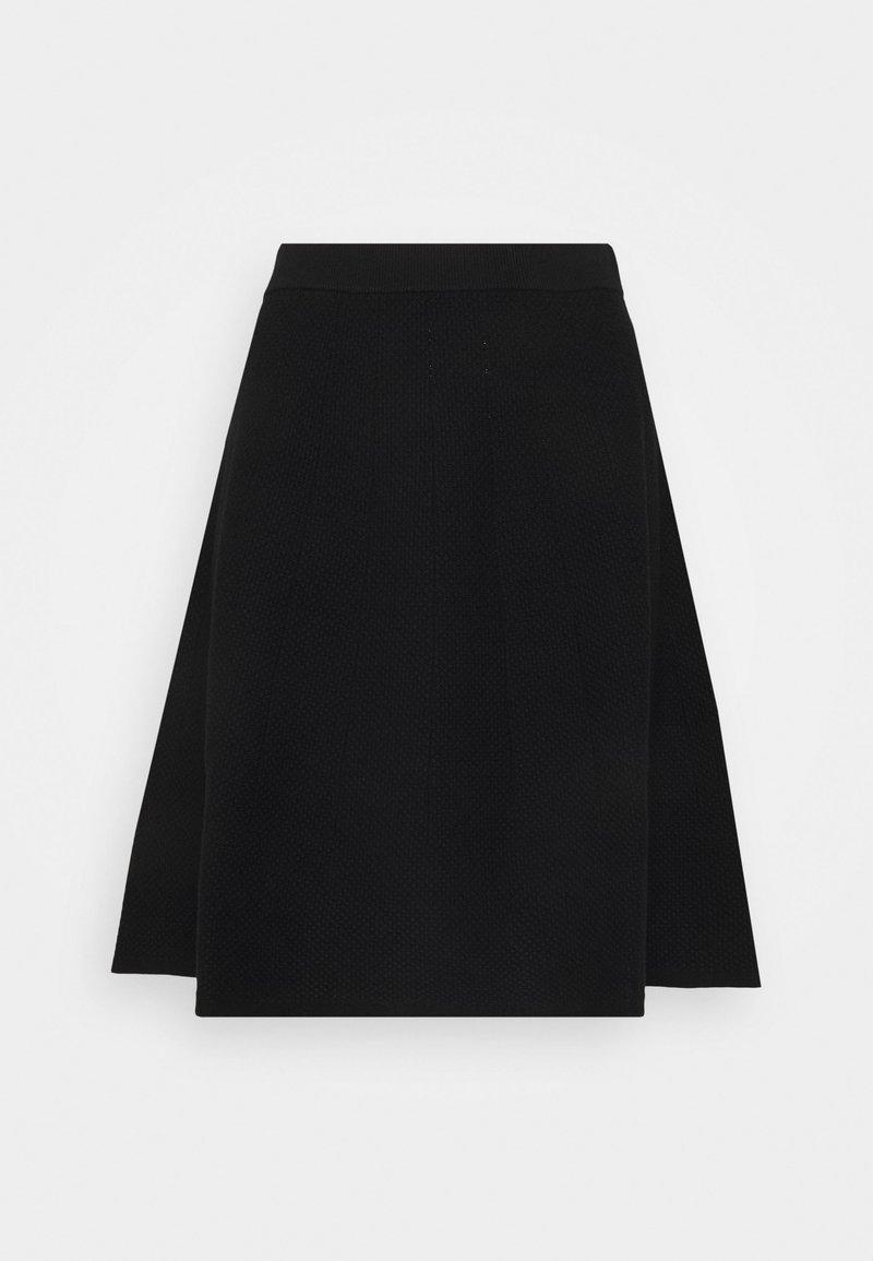 HUGO - SHEILY - Áčková sukně - black