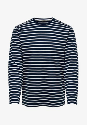 LS TEE NOOS - Long sleeved top - dress blues