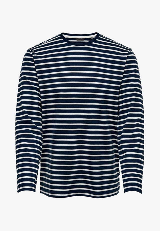 LS TEE NOOS - Maglietta a manica lunga - dress blues