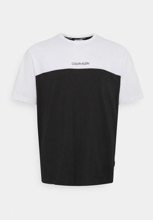 COLOR BLOCK - T-shirt - bas - bright white