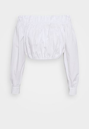 GATHERED BLOUSE - Blouse - white