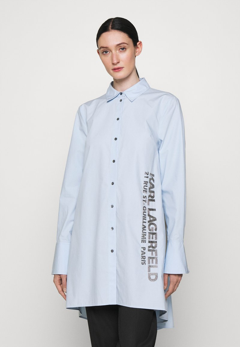 KARL LAGERFELD - EMBELLISHED  - Button-down blouse - cashmere blue