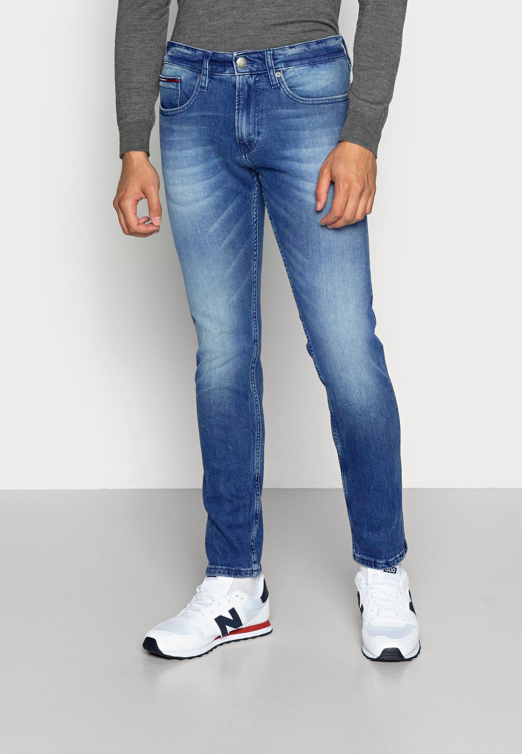 Men SLIM TAPERED STEVE BEMB - Slim fit jeans - berry mid blue