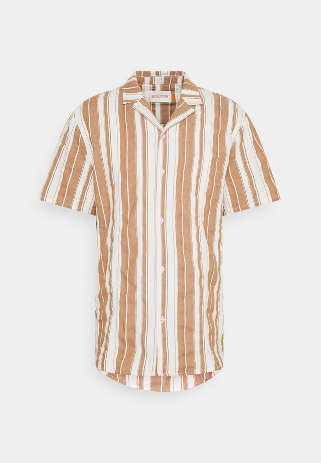 SHORT SLEEVED CUBAN SHIRT - Overhemd - brown
