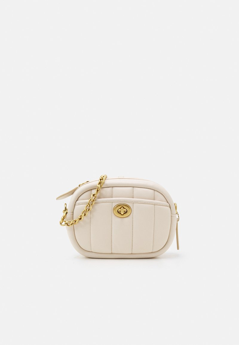 Coach - QUILTED CAMERA BAG - Across body bag - chalk