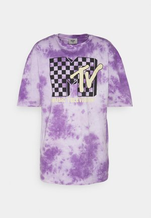 MTV TEE UNISEX - T-shirt print - lilac