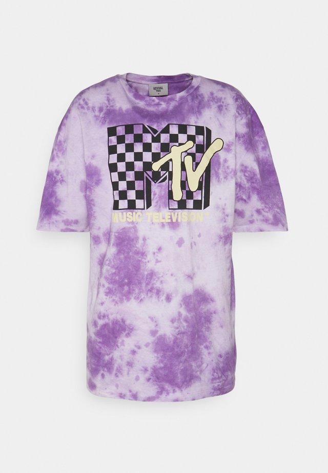 MTV TEE UNISEX - T-shirt z nadrukiem - lilac