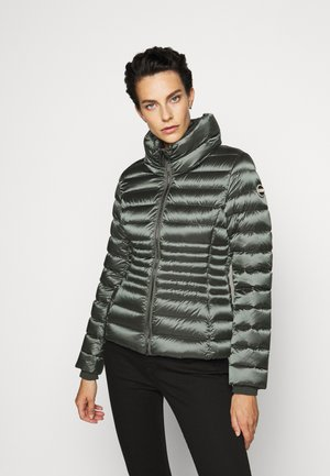 LADIES JACKET - Bunda z prachového peří - matcha dark steel